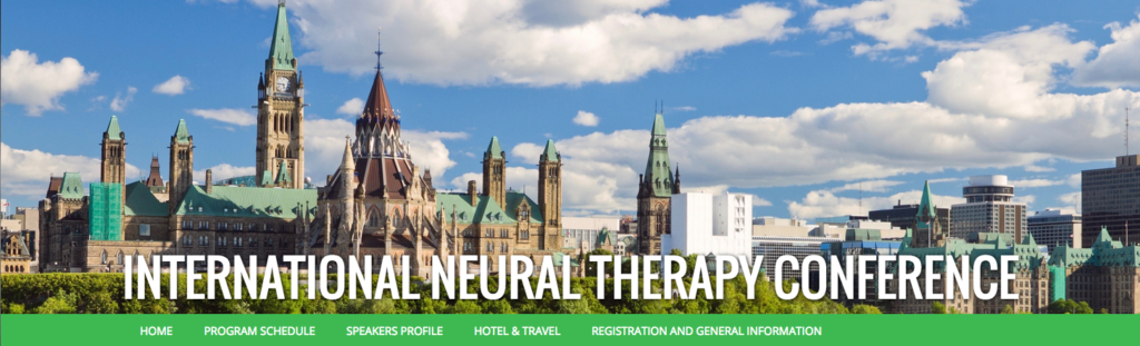 International Neuraltherapy Conference - CANADA May 2017